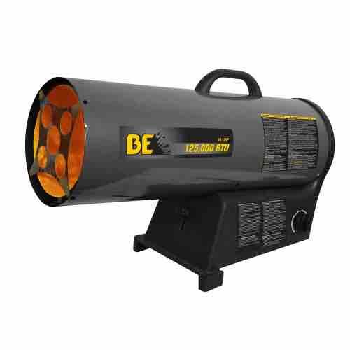 BE Pressure 125,000 BTU LPG Forced Air Heater